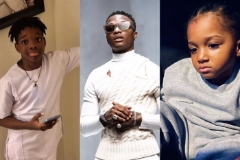 See Fans Reactions As Wizkid Sons, Boluwatife And Zion Finally Meet For The First Time, See Video
